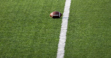 A lonely football, waiting for some action
