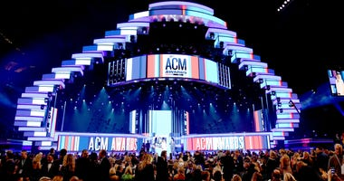 A view of the main stage during the 54th Academy Of Country Music Awards at MGM Grand Garden Arena on April 07, 2019