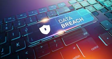 Data Breach Button on Computer Keyboard