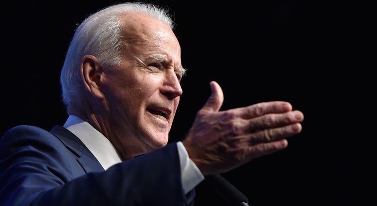 "Democratic presidential candidate, former U.S Vice President Joe Biden speaks during the Nevada Democrats' ""First in the West"" event at Bellagio Resort & Casino on November 17, 2019"