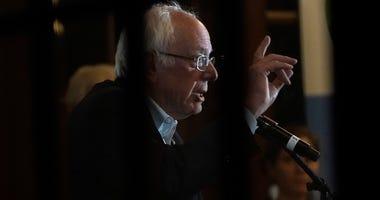Democratic presidential candidate, Sen. Bernie Sanders speaks to the Organic Farmers Association at the Iowa Organic Association's 2019 Presidential Forum December 05, 2019 in Story City, Iowa