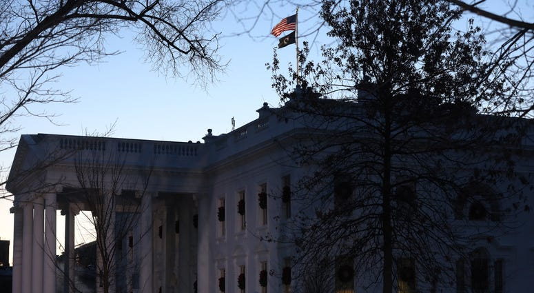 An exterior view of the White House is seen December 18, 2019 in Washington, DC.