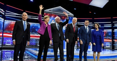 Democratic presidential candidates gaher for debate at Paris on 2-18-20