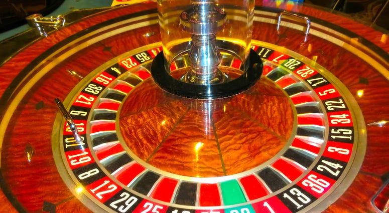 Conceptual image about casino closed stop sign indicating warning of Coronavirus Covid-19