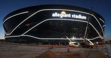 An under-construction look at Allegiant Stadium