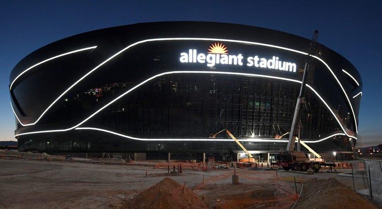 An under-construction look at Allegiant Stadium