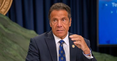 New York Governor Andrew Cuomo speaks during a COVID-19 briefing on July 6, 2020 in New York City.