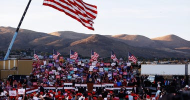 President Donald Trump speaks during a campaign rally on October 18, 2020 in Carson City, Nevada.