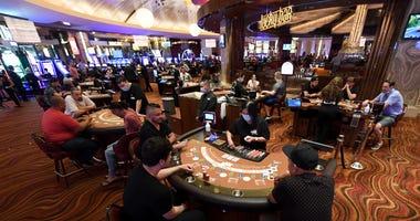 Red Rock Casino floor on 6-4-20
