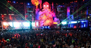 The Organ Donors perform at the 17th annual Electric Daisy Carnival at Las Vegas Motor Speedway on June 23, 2013 in Las Vegas, Nevada