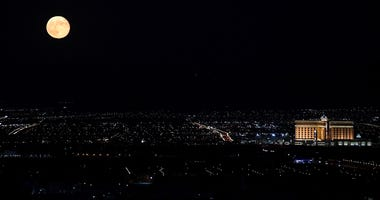 Night Sky of Las Vegas With South Point In The Distance