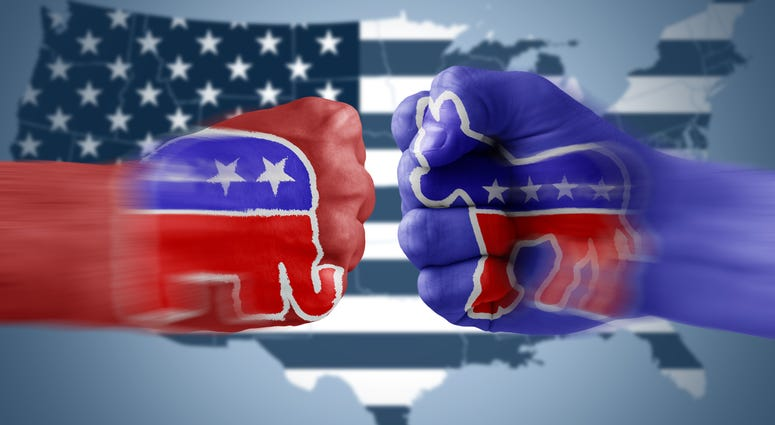 The Democrat Donkey vs. The Republican Elephant