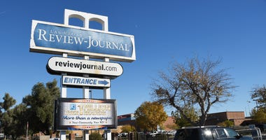 Exterior of the offices of the Las Vegas Review Journal