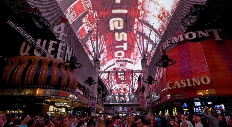 The Fremont Street Experience at night