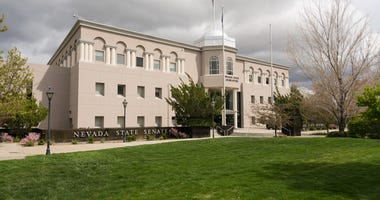 Nevada State Legislature building entrance in Carson City