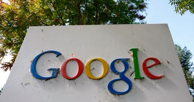 The Google logo is seen on display at the company's headquarters October 18, 2007 in Mountain View, California.