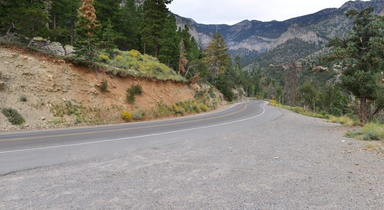 Kyle Canyon Road heading west toward Mt. Charleston