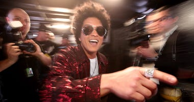 Bruno Mars attends the 60th Annual GRAMMY Awards