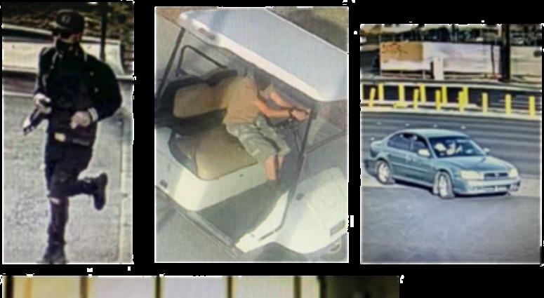 Surveillance snapshots of UNLV golf cart thefts