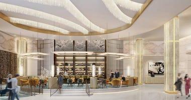 Schematic of new Hilton/Resorts World hotel