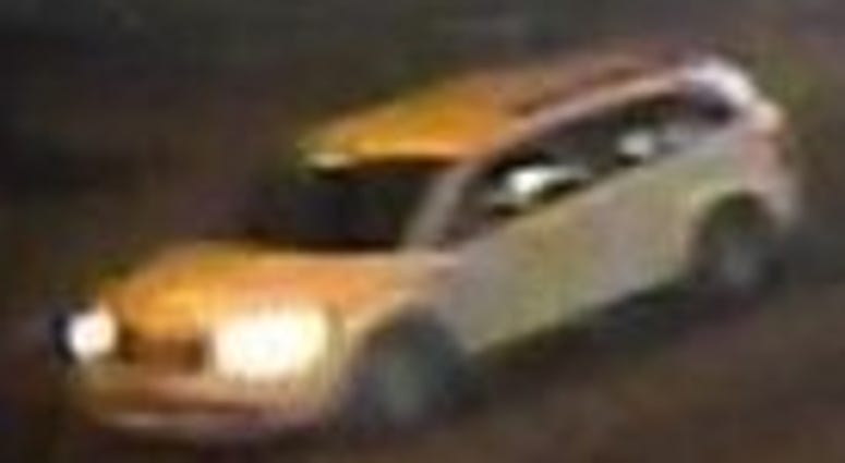 Screen shot of car wanted in fatal hit and run on 1-11-20