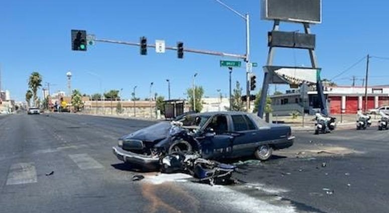 Scene of a fatal crash involving a motorcycle for 7-9-20