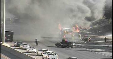 Scene of a RV fire along I-15 on 7-12-20