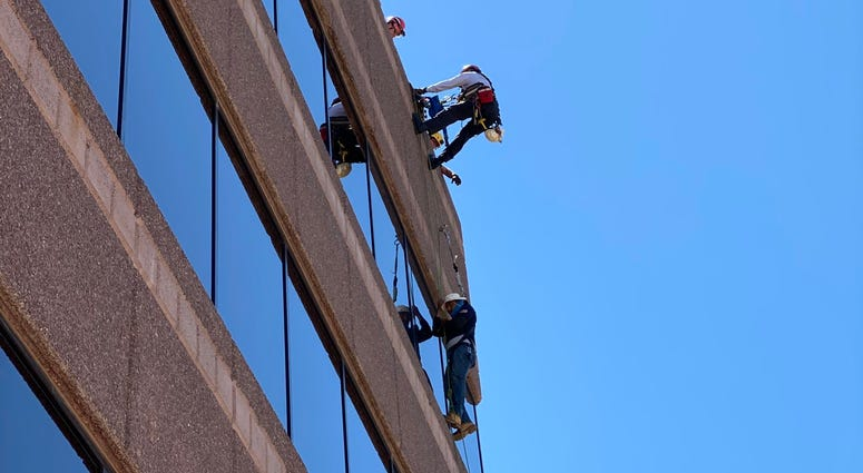LV Fire rescues a window washer on 8-9-20