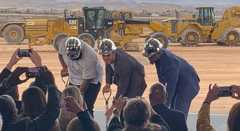Raiders Henderson groundbreaking