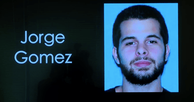 Screenshot of Jorge Gomez from LVMPD press conference into his shooting