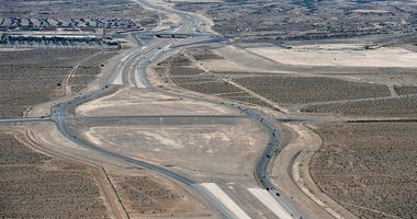 Overhead view of the Losee CC-215 interchange