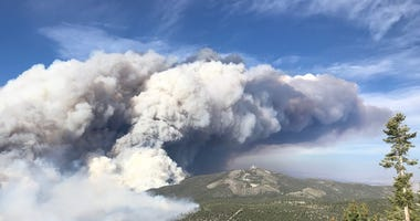 Overhead shot of the Mahogany Fire from 6-28-20