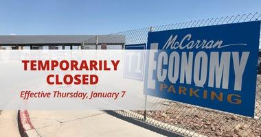 McCarran Airport economy parking lot closure