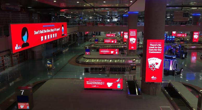 Baggage Claim Area At McCarran International Airport On 5-20-20