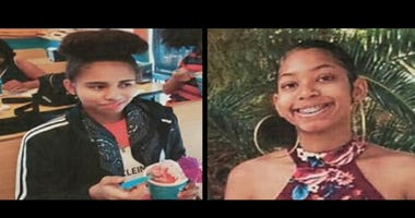Picture of two missing North Las Vegas girls from 5-13-20