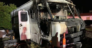Scene of fatal RV fire on 1-31-20