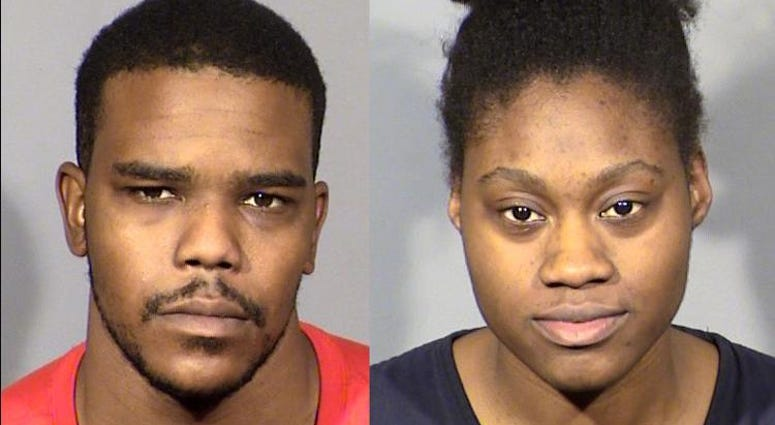 Mug shots of murder suspects Jecory Kemp and Tyeshia Jones