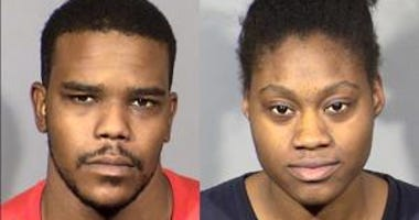 Mug shots of murder suspects Jecory Kemp and Tyeshia Jones