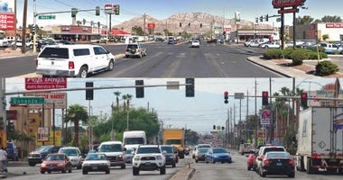 Shots of Nellis Blvd in Las Vegas