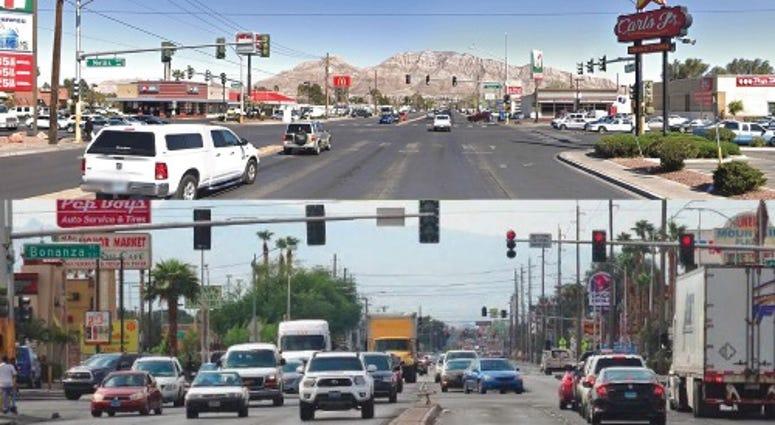 Shots of Nellis Blvd in Las Vegas