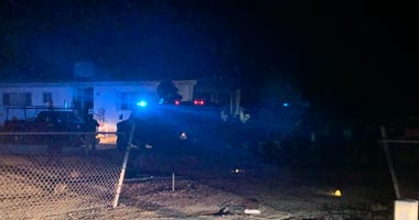 Scene of active shooter standoff in Pahrump on 12-3-20