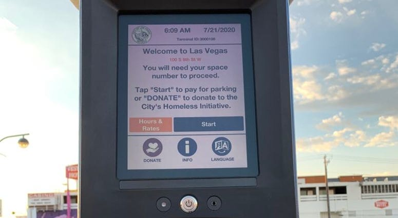 Touchless parking meters debuting in Downtown Las Vegas