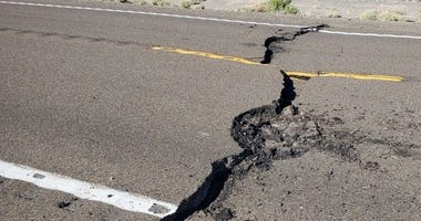 Highway 95 north of Tonopah following quake on 5-15-20
