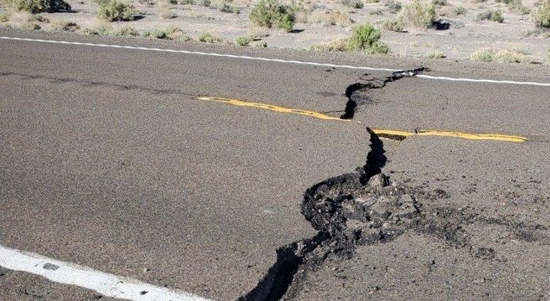 Highway 95 north of Tonopah following quake on 5-15-20