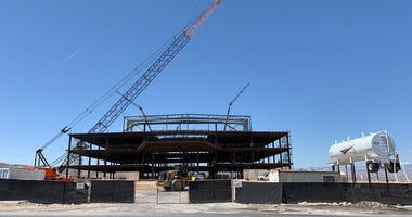 Construction of the Las Vegas Raiders' Headquarters In Henderson