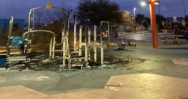 Damage done by vandals to Reunion Park In Henderson