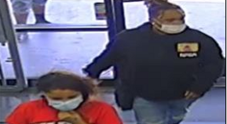 Surveillance snapshot of robbery suspects from 5-11-20