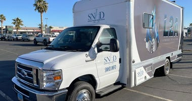 "Picture of SNHD's ""Linkage 2 Action"" van on 1-21-21"