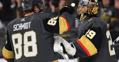 Nate Schmidt and Marc-Andre Fleury