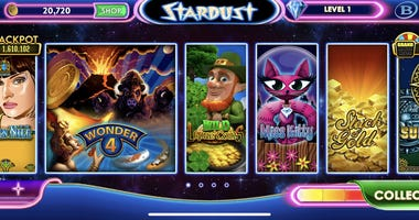 Shot of the new Stardust Social Casino App from Boyd Gaming